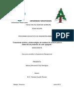 Tratamiento Químico y Biotecnológico de Residuos de Camarón Para La Obtención de Productos de Valor Agregado