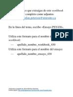 PETERSON - Plantilla Para Escribir Ensayos