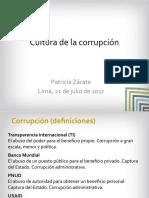 Exposición de Patricia Zárate del Instituto de Estudios Peruanos