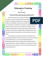 my philosophy of teaching