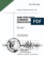 Chopra, Dynamic Stiffness Matrices for Homogeneous Viscoelastic