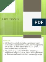 A HIV FERTŐZÉS curs 4
