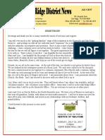July 2017 Oak Ridge District Newsletter
