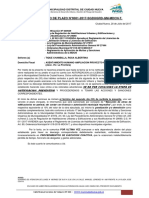 Carta Termino de Plazo-tique Chambilla, Rosa Albertina