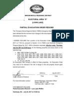 Evac Order Rescind - Loon Lake Partial Order Rescind Jul 20-17 2100 Hrs
