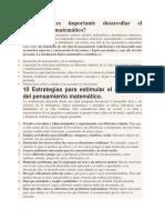 10 Estrategias Desarrollo MAT.