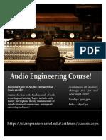 Audio Engineering Flyer