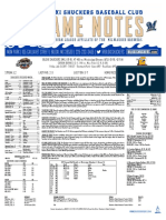7.21.17 at MIS Game Notes
