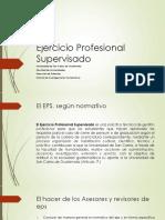 Ejercicio Profesional Supervisado, presentaci�n a asesores y revisores