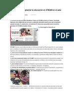 10 Claves Para Implantar La Educación en STEAM en El Aula