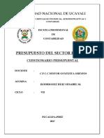 Cuestionario Presupuesto p