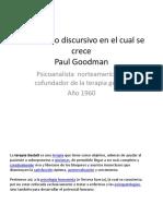El Universo Discursivo en El Cual Se Crece Paul Goodman