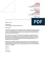 Lacy Chiefs Business Letter