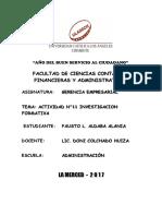 GERENCIA EMPRESARIAL-ACTIVIDAD N°11 INVESTIGACION FORMATIVA