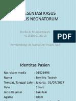 PPT Presentasi Kasus Sepsis Neonatorum
