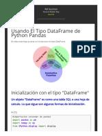 Usando El Tipo DataFrame de Python Pandas