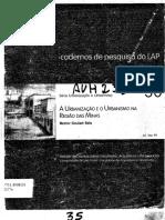 REIS, Nestor Goulart. a Urbanização e o Urbanismo Na Região Das Minas.