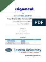 Patterson Operation Case Study Presentation
