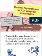 Electronic Payment System for PLDT Using Cash Accept