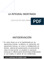 La Integral Indefinida