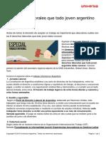 8 Derechos Laborales Joven Argentino Debe Conocer