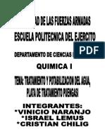 informe visita a planta de tratamiento de agua