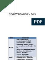 CEKLIST DOKUMEN MFK