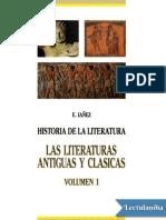 Las Literaturas Antiguas y Clásicas (Vol. 1) - Eduardo Iañez