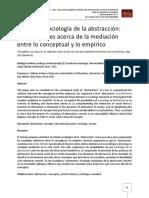 Hacia una sociología de la abstracción