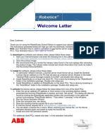 Welcome Letter - RobotStudio School Edition_107670