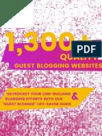 1300 Guest Blogging Websites Version 0.012 1