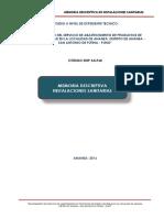 4. Memoria Descriptiva Sanitarias