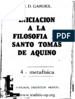 Iniciacion a La Filosofia de Sto Tomas de Aquino IV, Metafisica-Fr H-D Gardeil OP