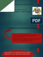 Formatos de Municipalidades