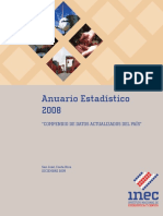 Anuario estadistico 2008