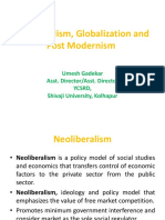 Neoliberalism, Globalization and Post Modernism