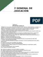 Resumen Ley General de Educación