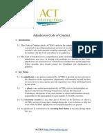 ACTU Adjudicator Contract