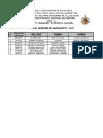 Listados Por Carrera de Graduandos 1-2017