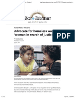 Advocate for Homeless Was 'Woman in Search of Justice'