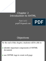 Introduction to XHTML Part 1