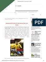Download PES 2016 PC Full Version Dan Cara Instal