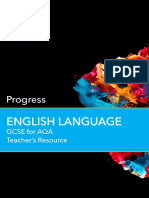 GCSE English Language for AQA Progress Teachers Resource Free Online
