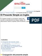 El Presente Simple en Inglés