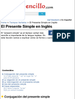El Presente Simple en Inglés