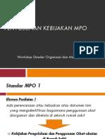 1. Standar 1 Dan 1.1 MPO