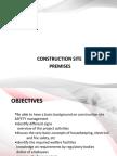 2.1. Construction Site Premisses