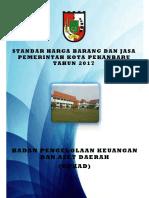 Standar Harga Barang Dan Jasa TA 2017