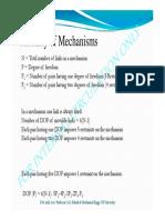 Mobility - Kutzbach Criterion, Grublers Criterion for Planar Mechanisms, Tutorial-I