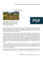 Micro-irrigation in India- An Assessment of Bottlenecks and Realities